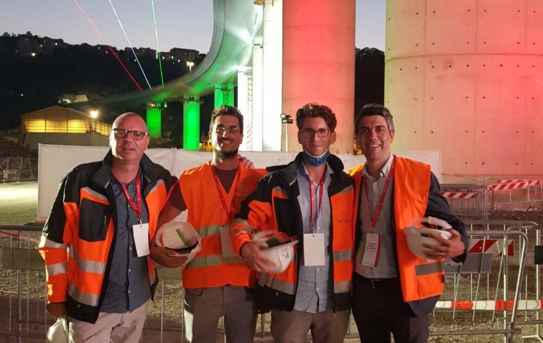 Il Gruppo Marazzato all'inaugurazione del nuovo ponte di Genova